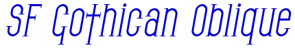 SF Gothican Oblique font